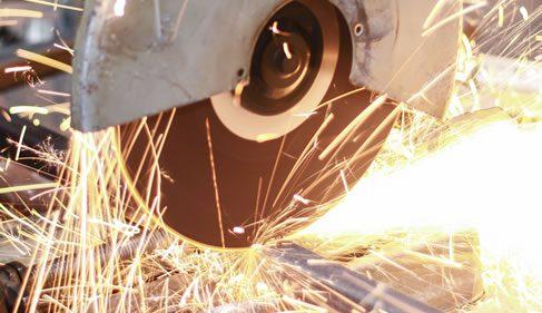 cutting galvanized steel beams