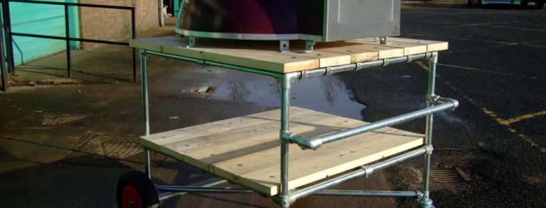 Steel framed trolley