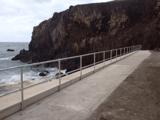 Steel Handrails along coastline