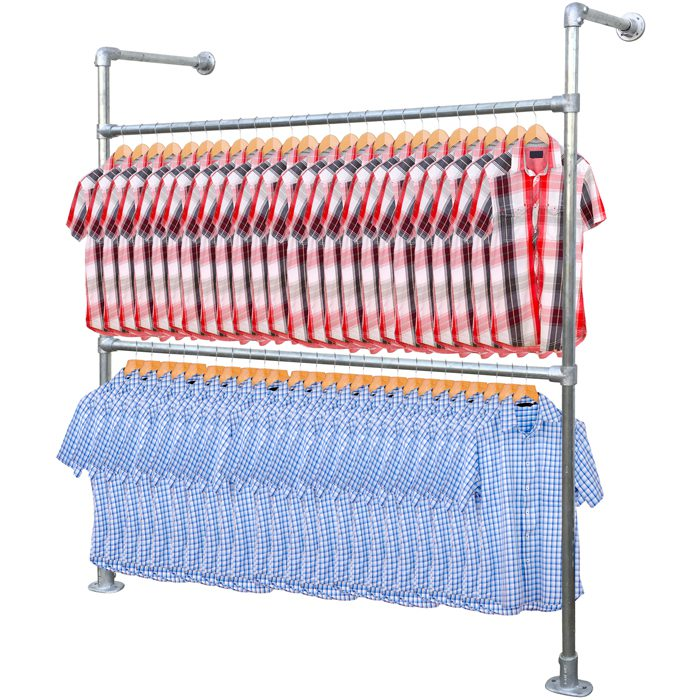 Shop clamp garment rail