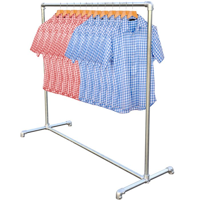 Shop fit hanging rail
