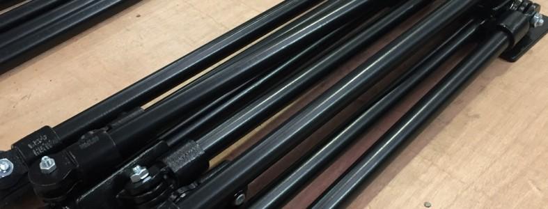 pile of multiple sized steel frames