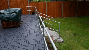Key Clamp Handrail for Garden Patio
