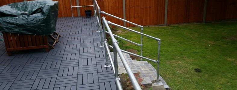 Key Clamp Handrail for Garden Patio